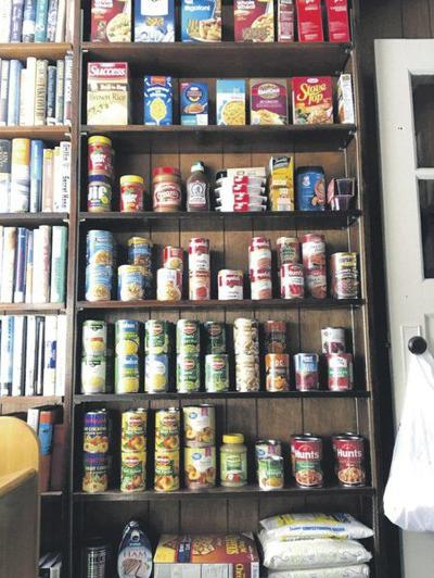 Library's new food pantryfills quickly with donations