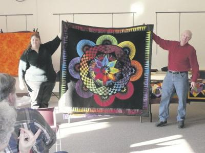 On the Bright Side: Sidney Center stone cutter dazzles with his quilts