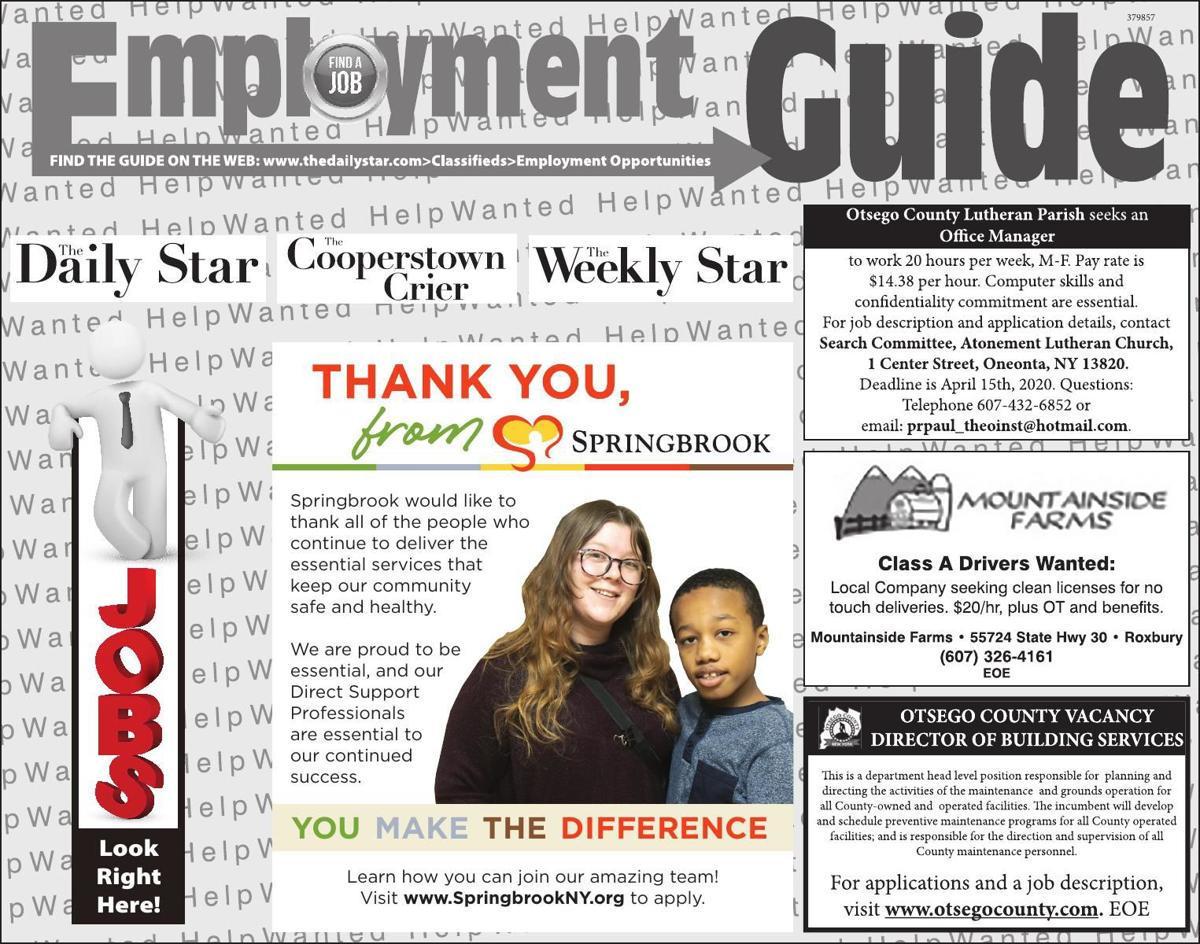 Employment Opportunities 3/28/2020