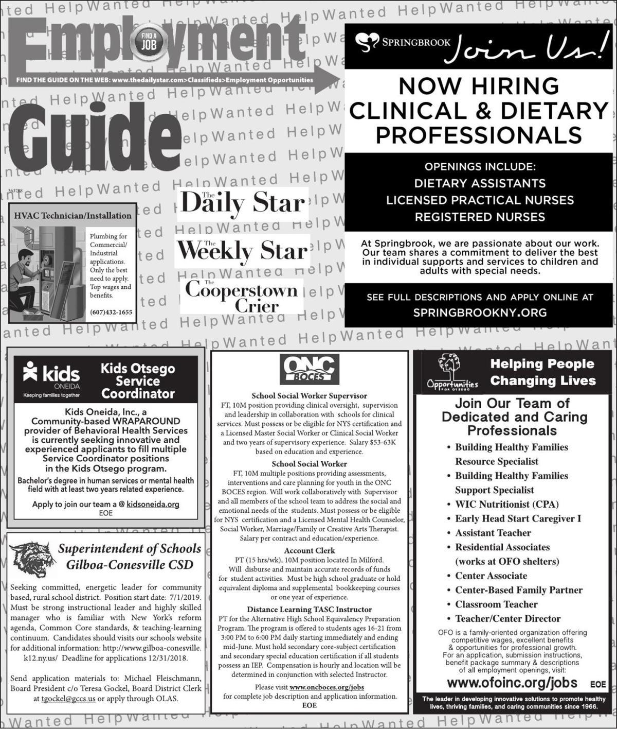Employment Opportunities 12/15/2018