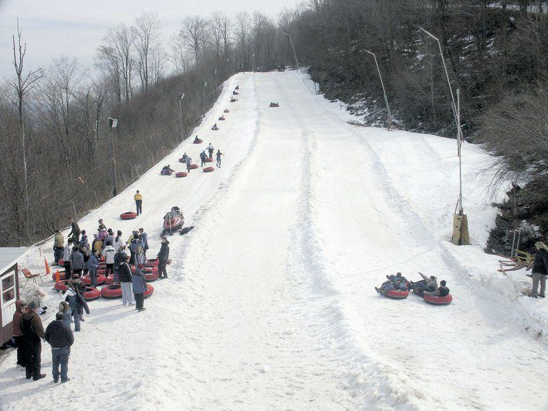 Tubing draws crowds for wintertime fun
