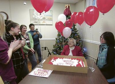 Woman celebrates 102nd birthday with family
