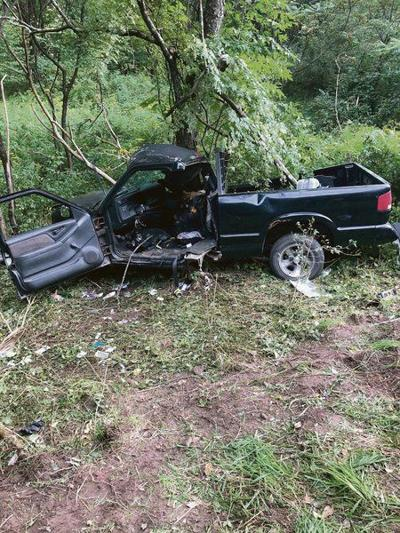Franklin crash leaves two teens badly injured