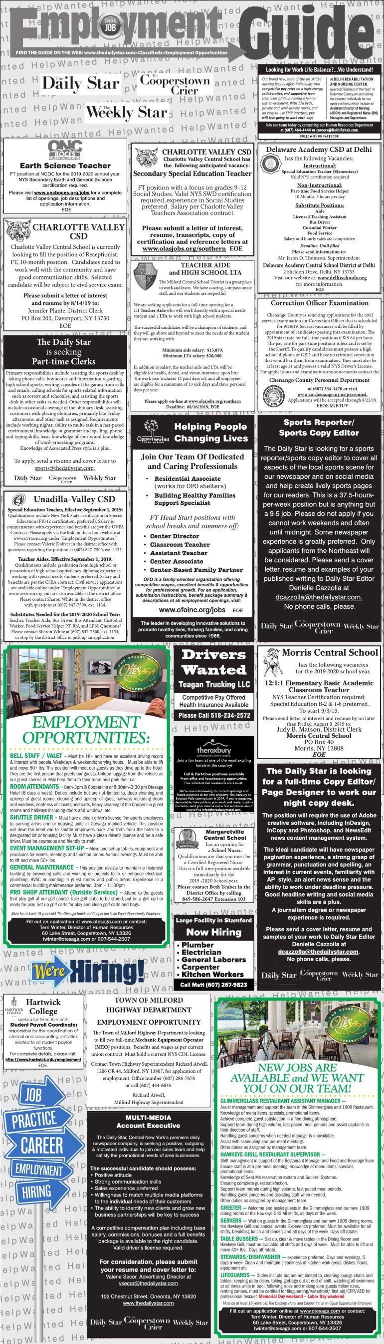 Employment Blocks 8/3/2019