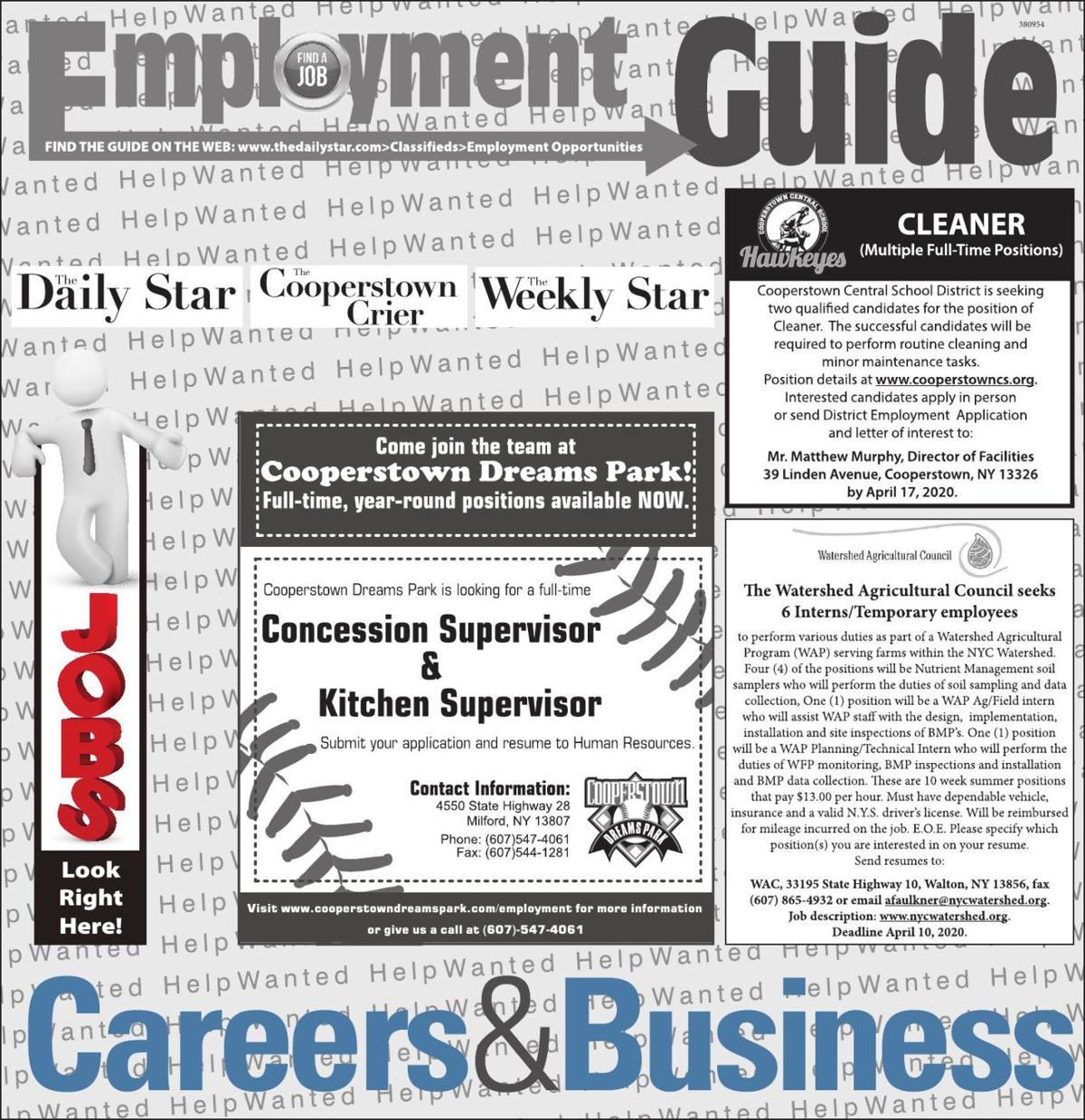 Employment Opportunities - 4/4/2020