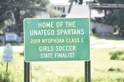 New road sign honors Unatego girls soccer team