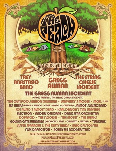 Peach Festival Lineup