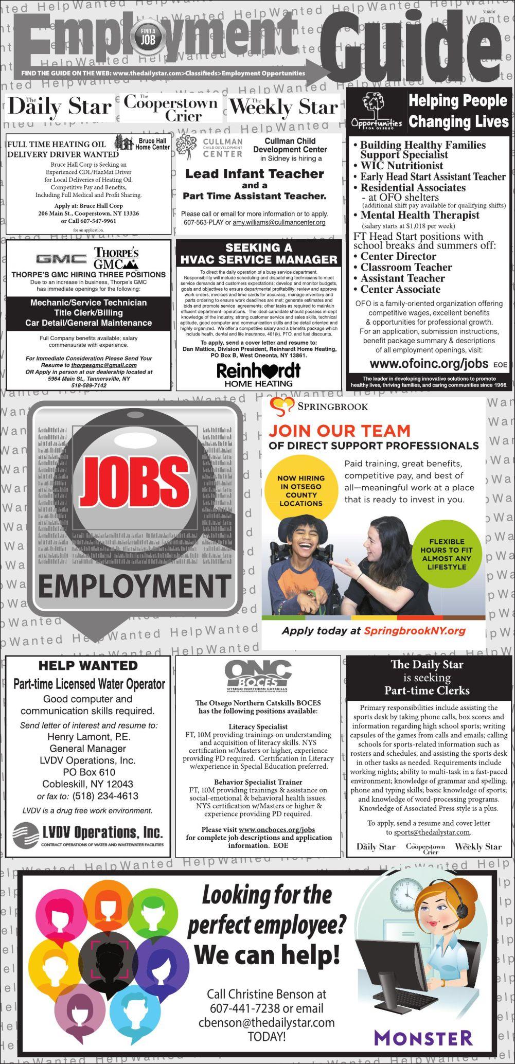 Employment Opportunities 11/23/2019