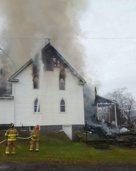 Fire engulfs church built in 1880s