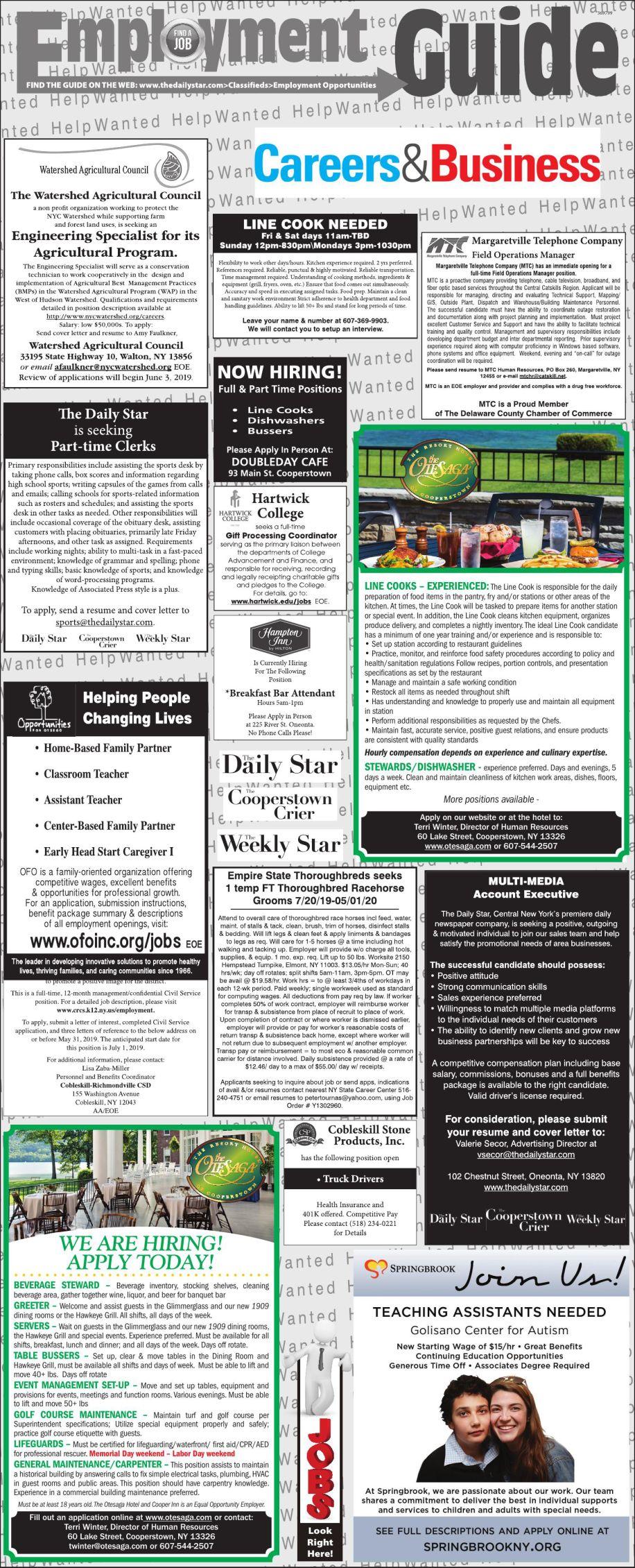 Employment Opportunities 5/18/2019