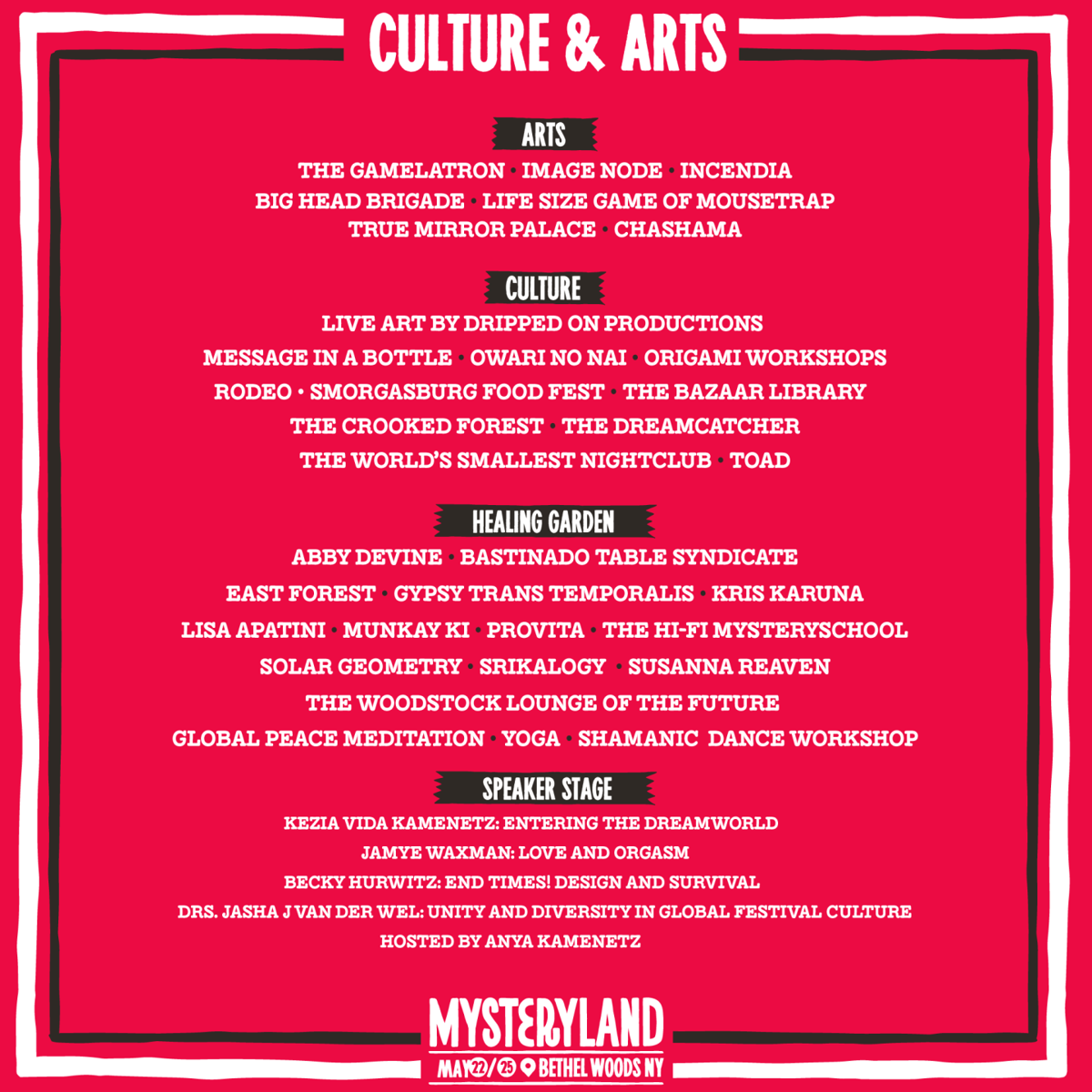 Arts and Culture Lineup