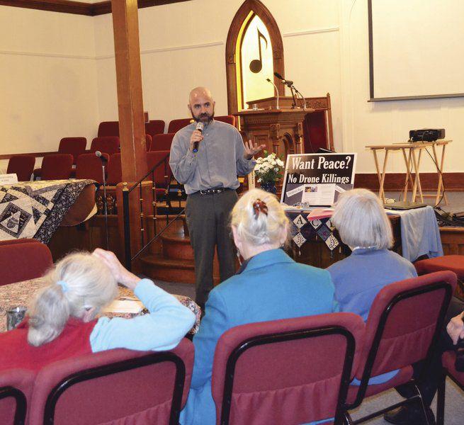 Former chaplain speaks about drone warfare
