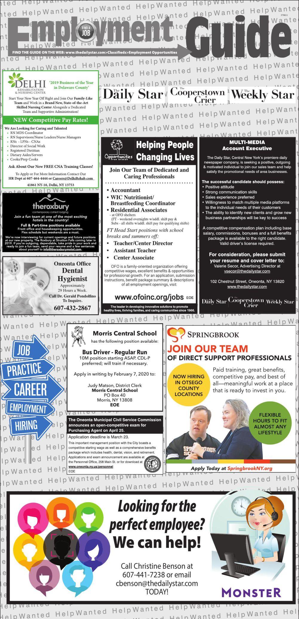 Employment Opportunities - 2/1/2020