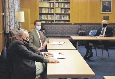 Schumer briefs local officials on stimulus funds