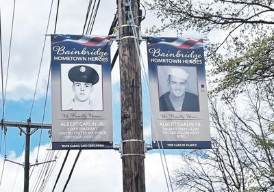 Bannerssalute veterans in Bainbridge