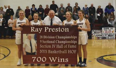 Ray Preston wins 700th game with Davenport girls hoops