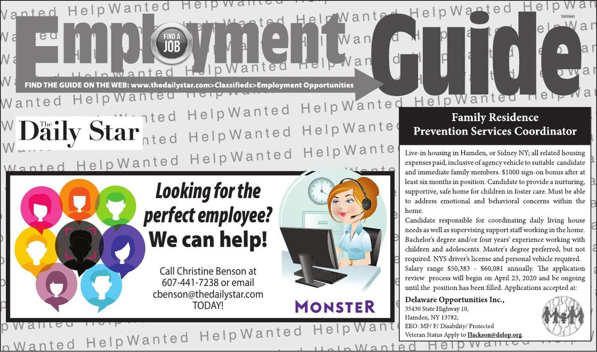 Employment Opportunities - 4/18/2020