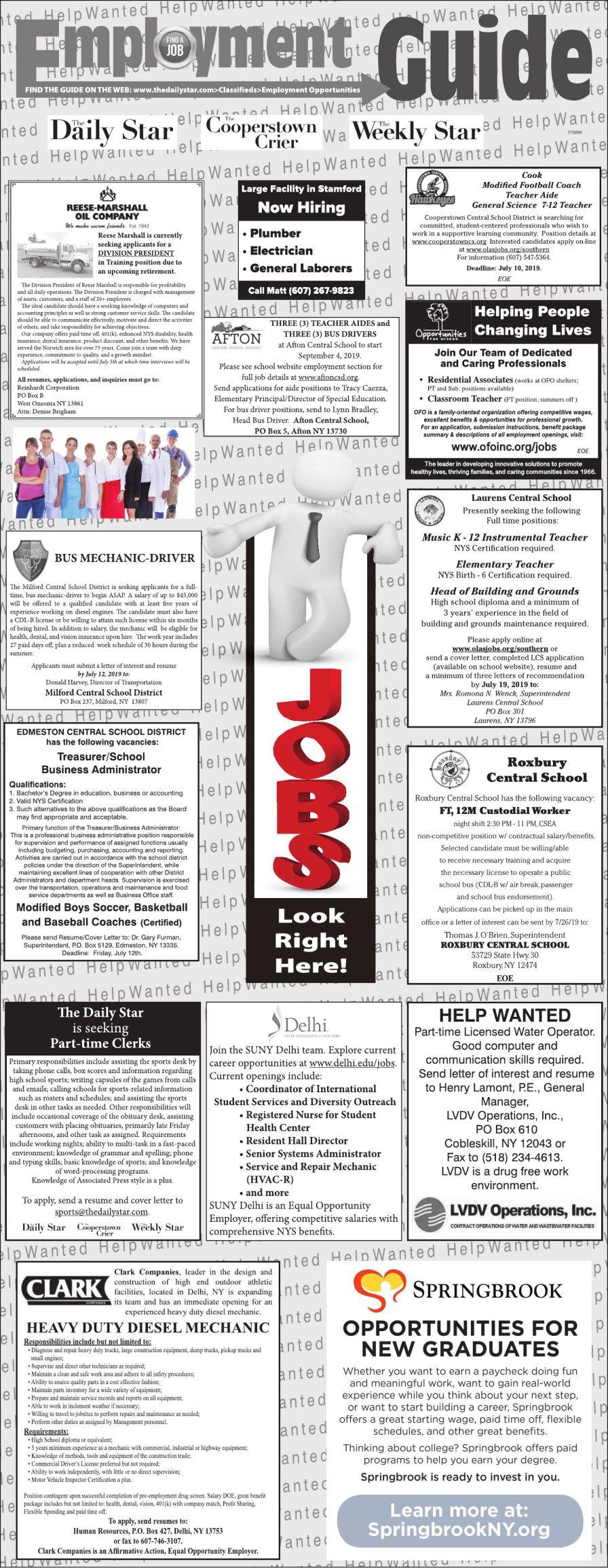 Employment Opportunities 6/29/2019