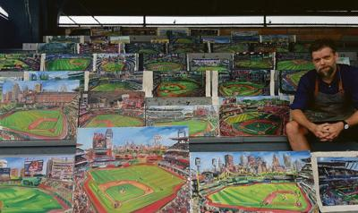 Artist ends baseball journey in Cooperstown