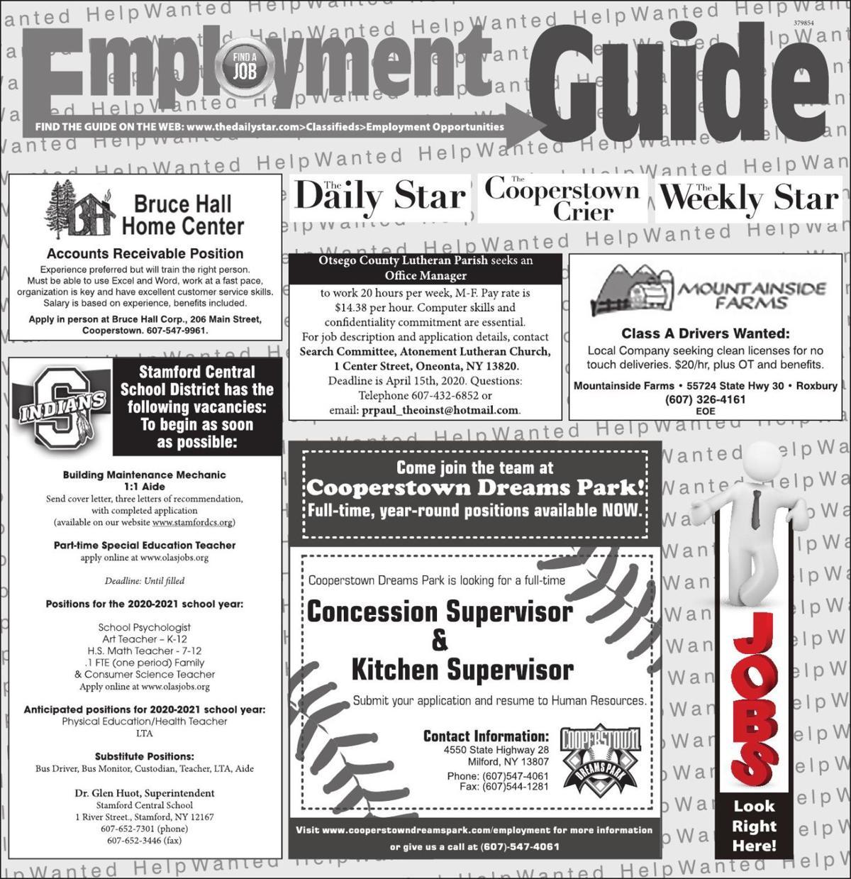 Employment Opportunities - 3/21/2020