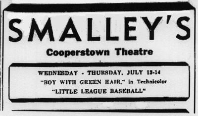 Backtracking: The Early Years: Cooperstown's Little League debuted in 1949