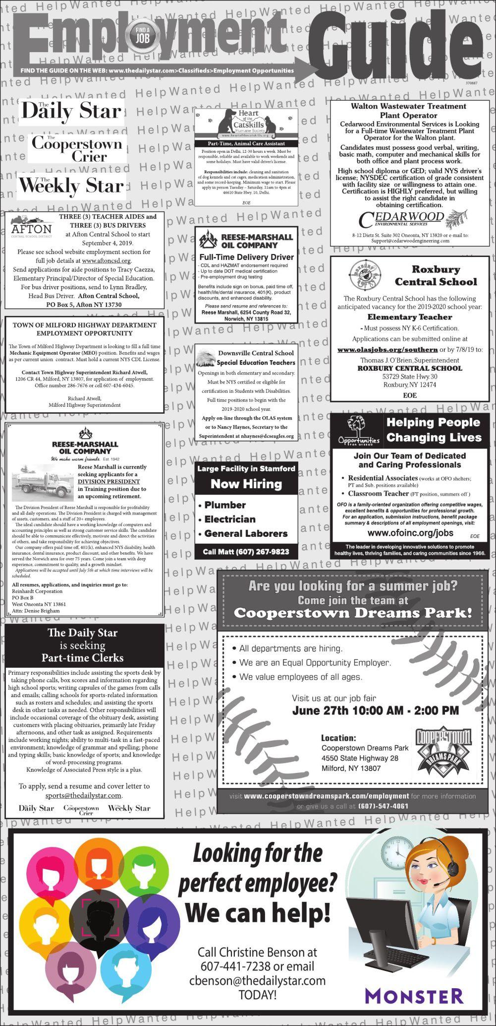 Employment Opportunities 6-22-2019