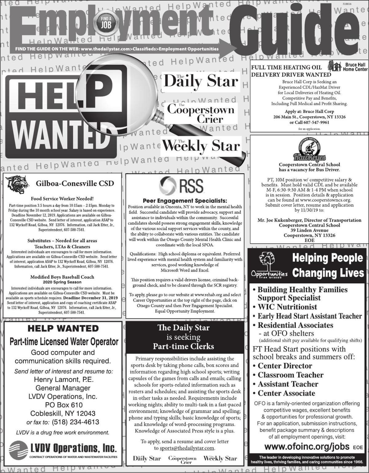 Employment Opportunities 11/16/2019