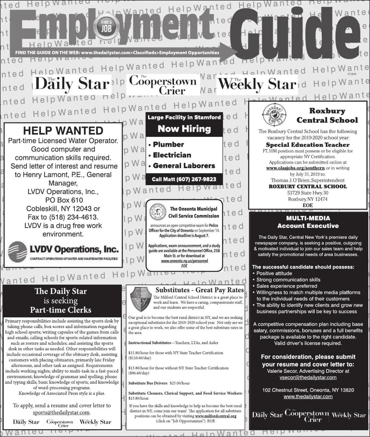 Employment Opportunities 7/6/19