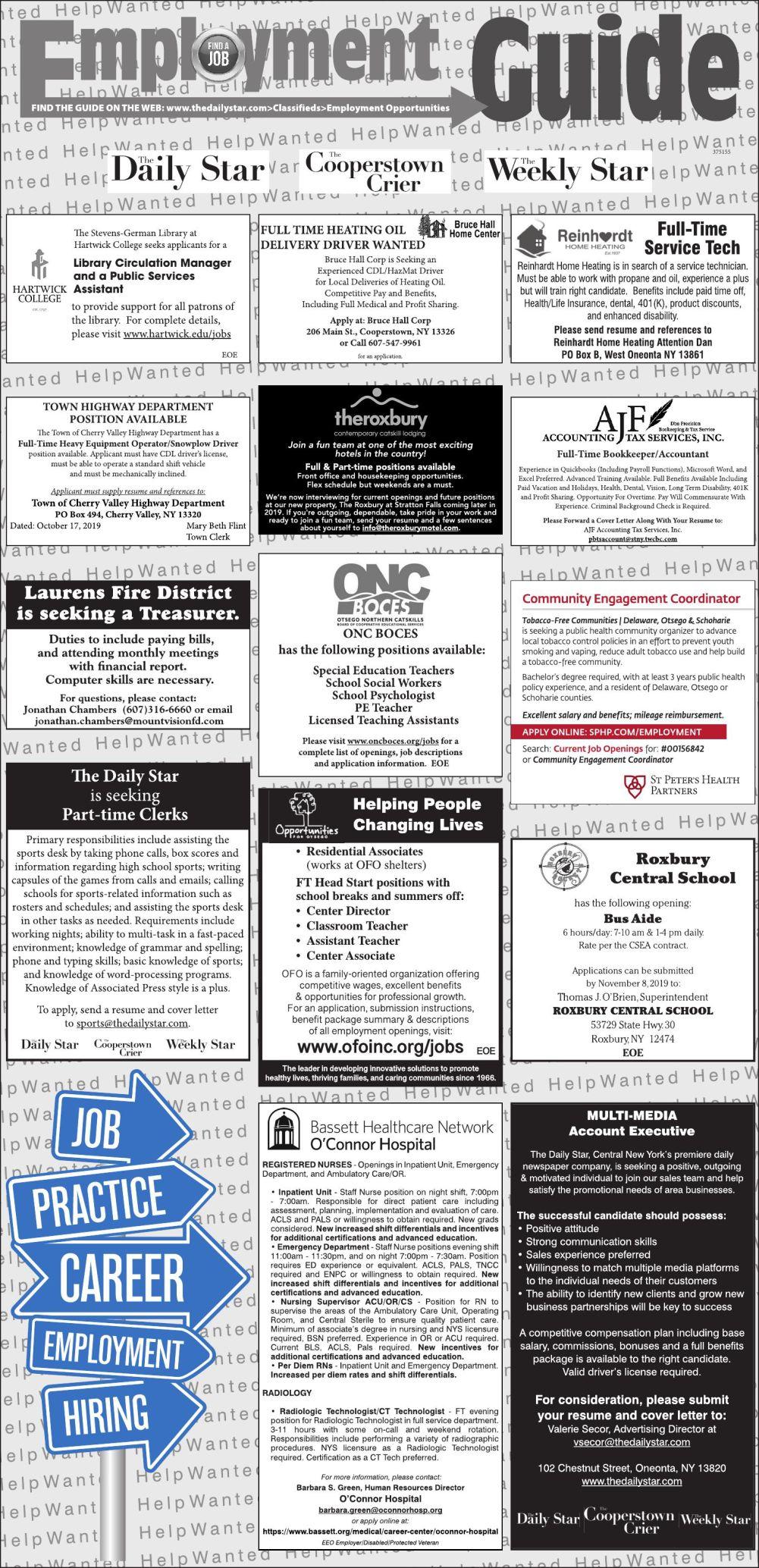 Employment Opportunities 10/19/19