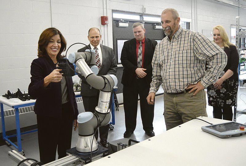 Lt. Gov. Hochul visits BOCES lab in Milford