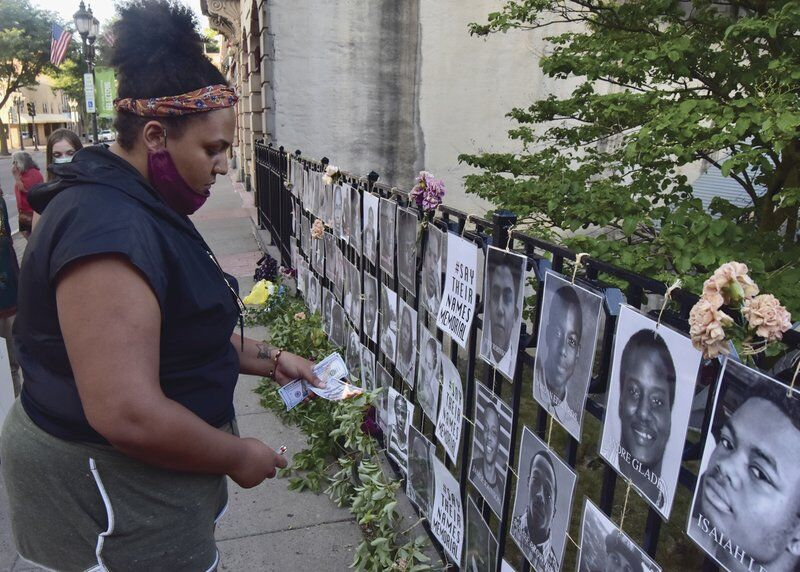 Living memorial to Black lives installed in downtown Oneonta