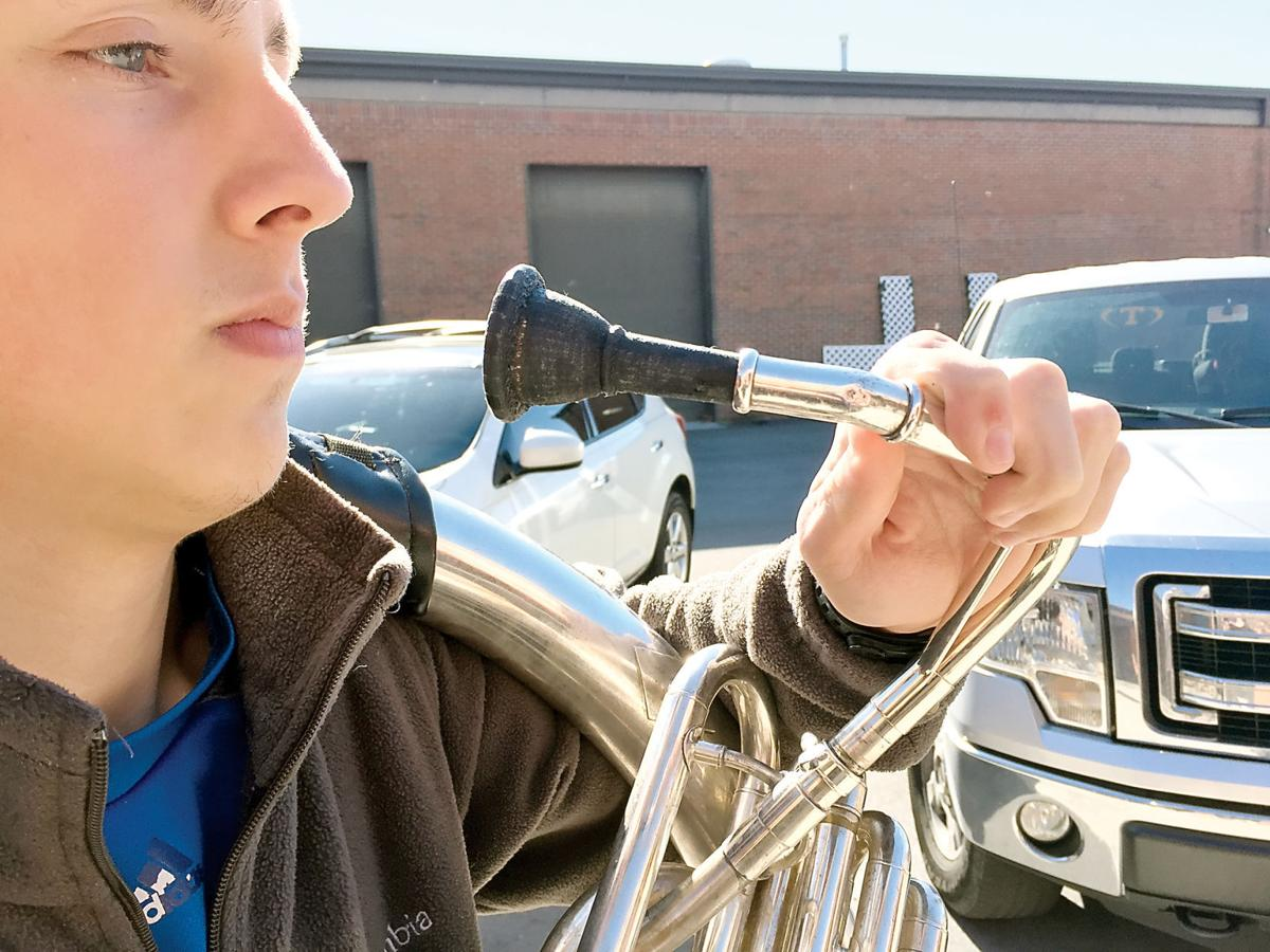William Blount High School student makes sousaphone mouthpiece with