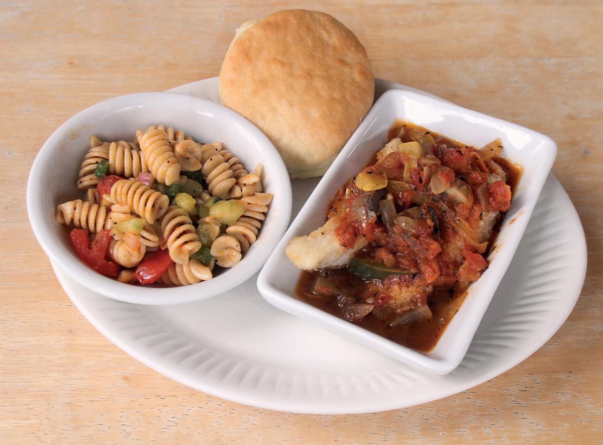 Chicken cacciatore and pasta salad