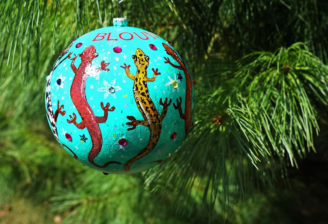 Carl Gombert's Blount County ornament features salamanders