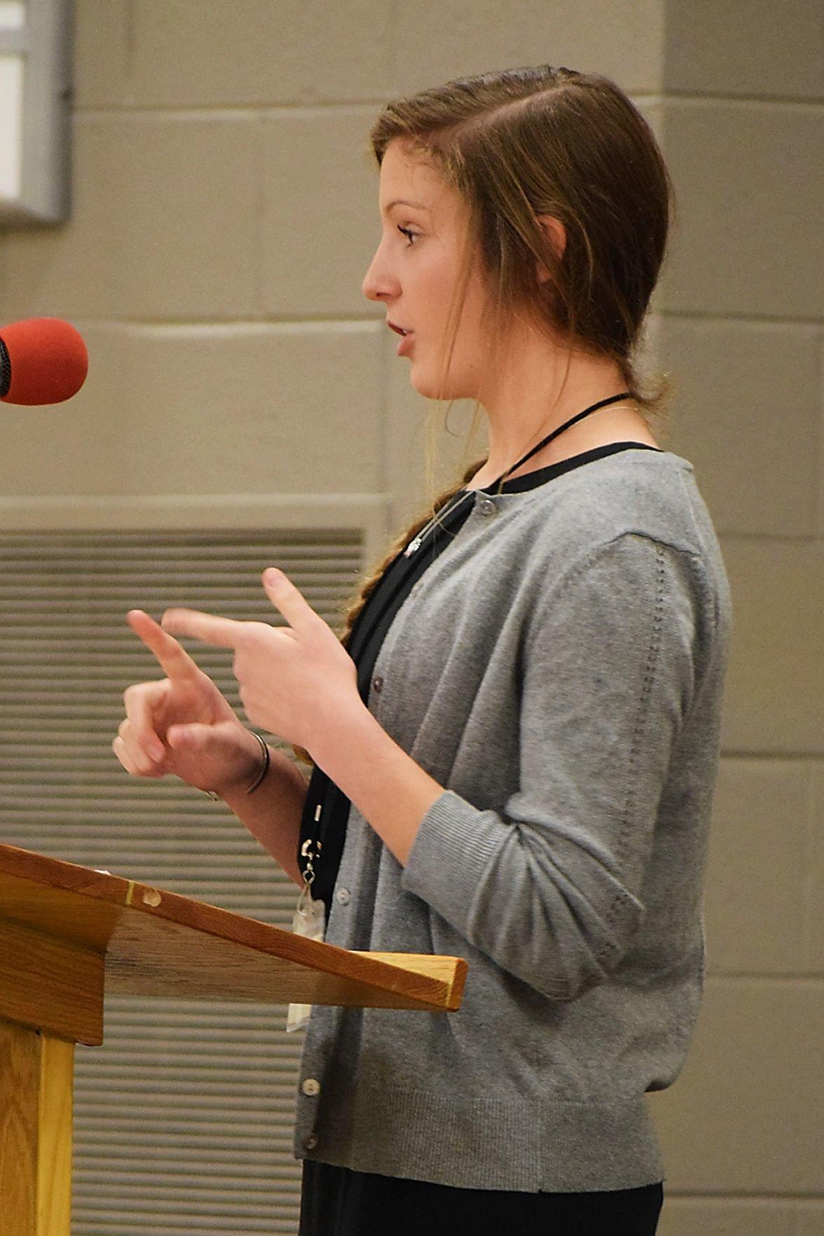 5th Annual Amazing Maryville High School Shake finalist Clara McKinnis