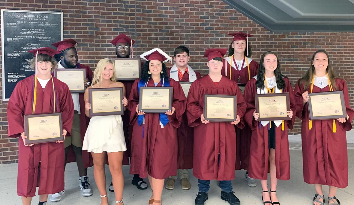 Alcoa High School Class of 2020 Mr. P's Scholarship winners