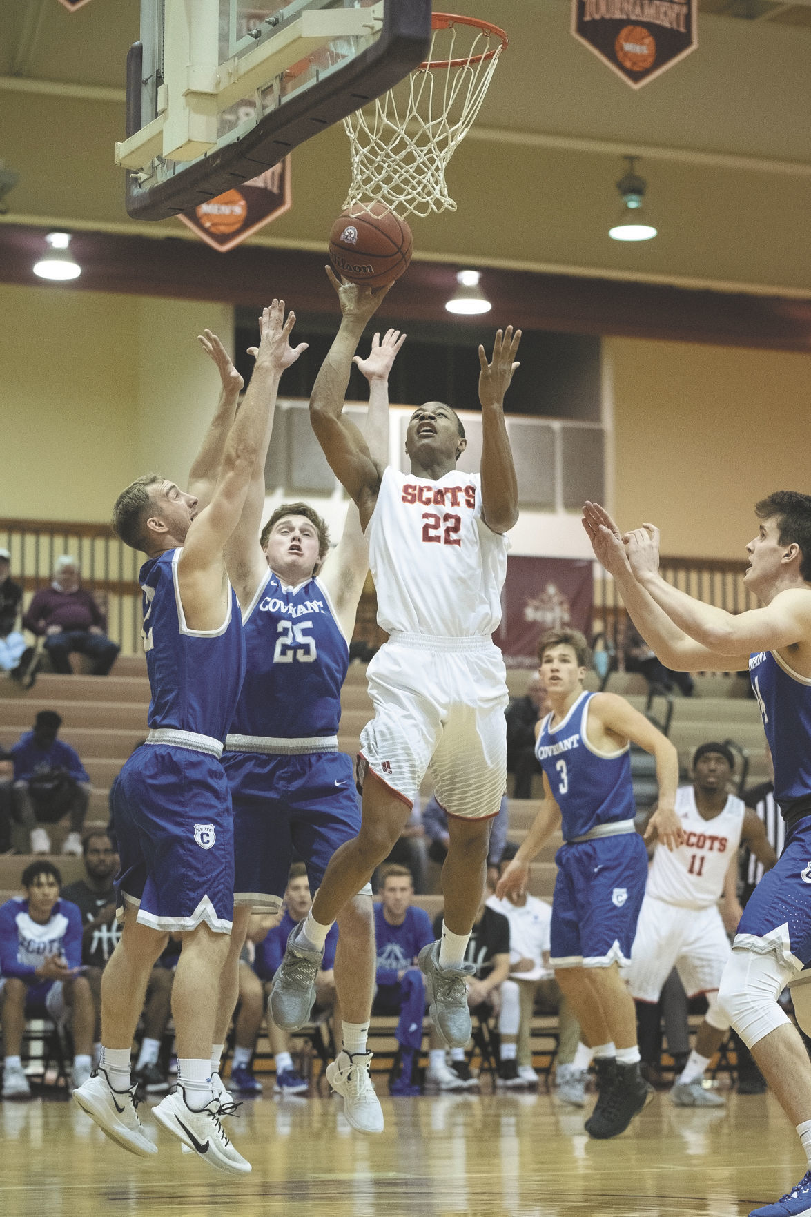 COLLEGE BASKETBALL: Maryville College's Nicholas Clifton vs. Covenant