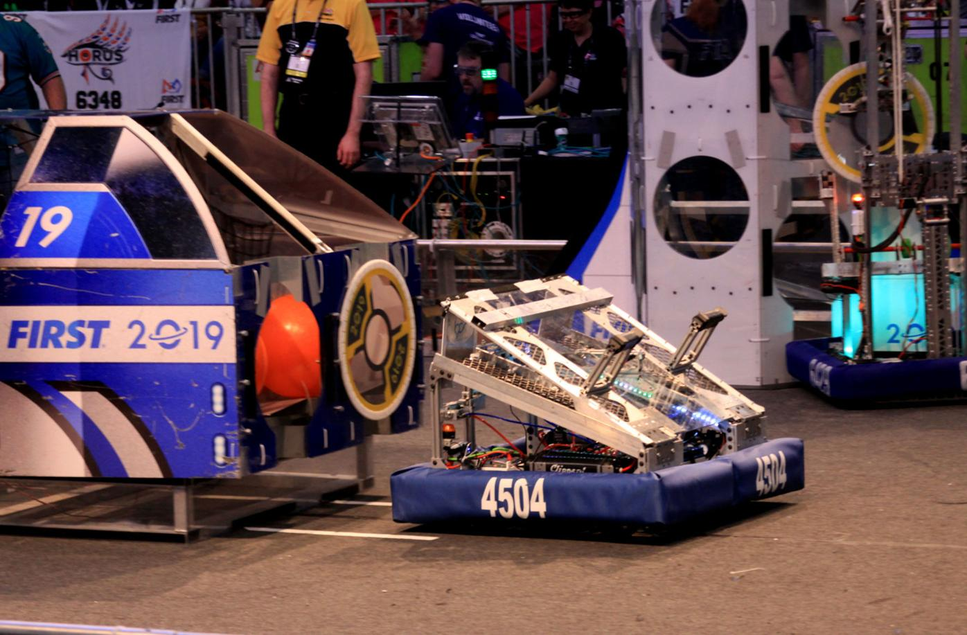 'Wedgie' the B.C. Robotics Team #4504 in competition