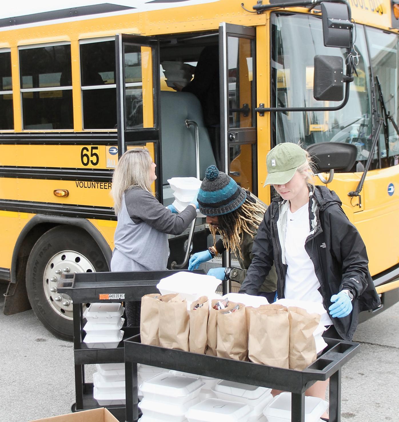 School buses deliver meals in Blount County