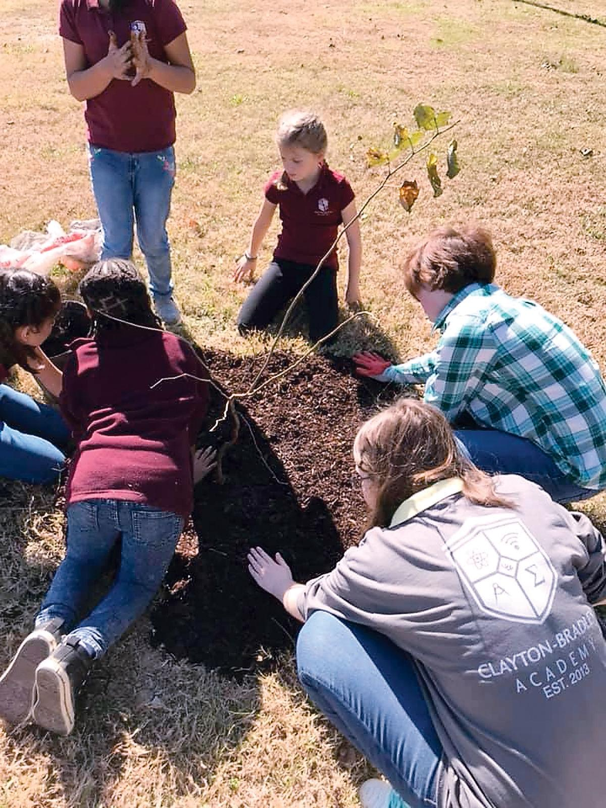 Clayton Bradley students plant trees for Keep Blount Beautiful