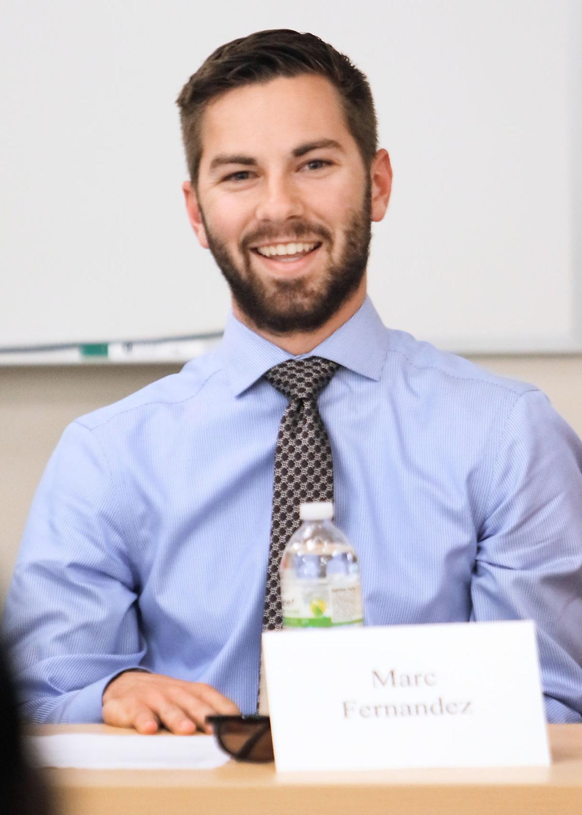 Marc Fernandez of Carpenters Middle School speaks at Maryville College