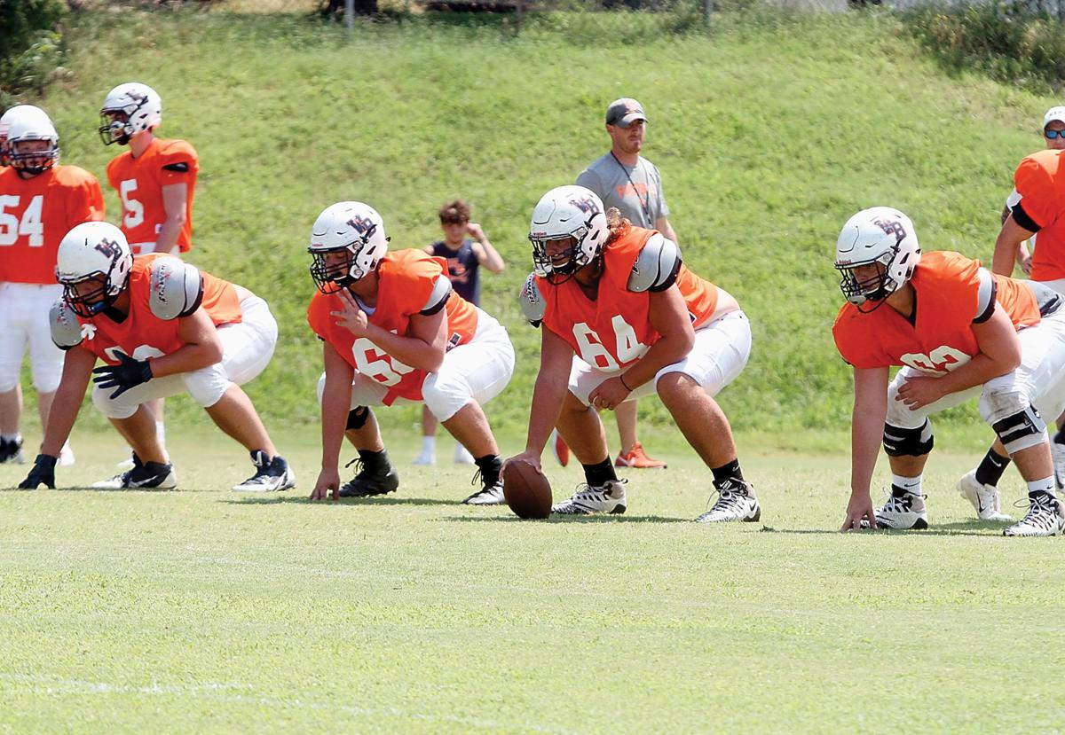 The William Blount offensive line