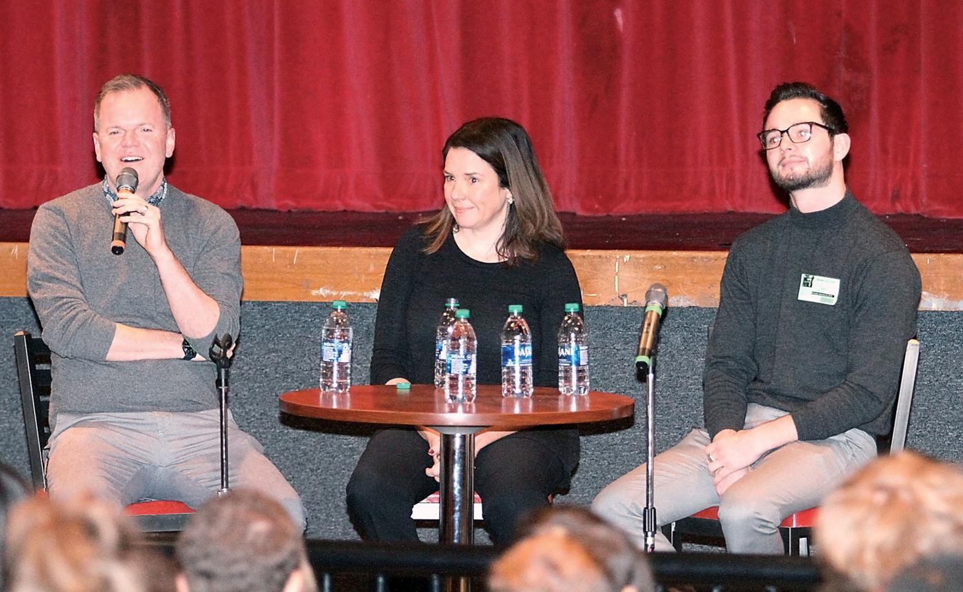 Maryville High School alumni Stephen Stanley, Amy Piper and Brian Coulter talk about careers in the arts