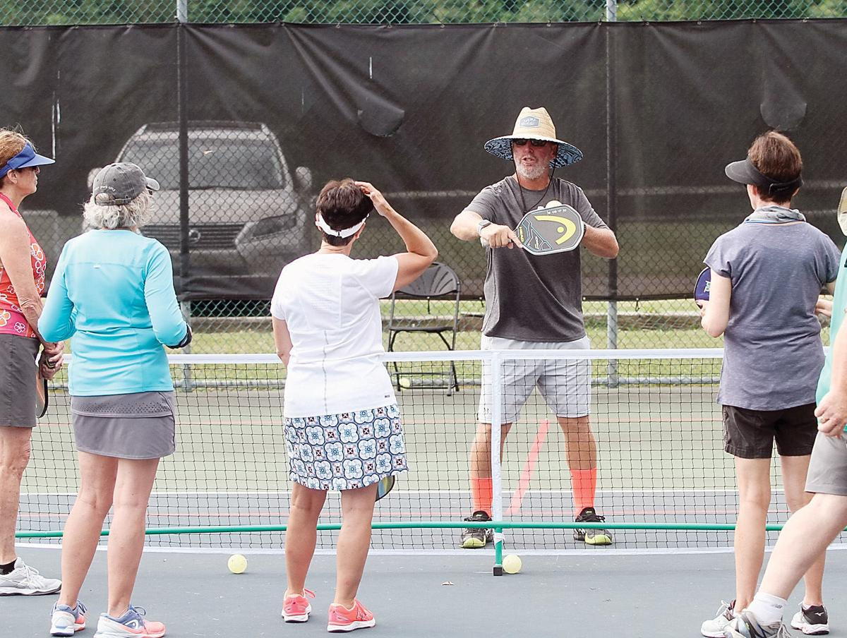 Professional pickleball player and instructor John Sperling