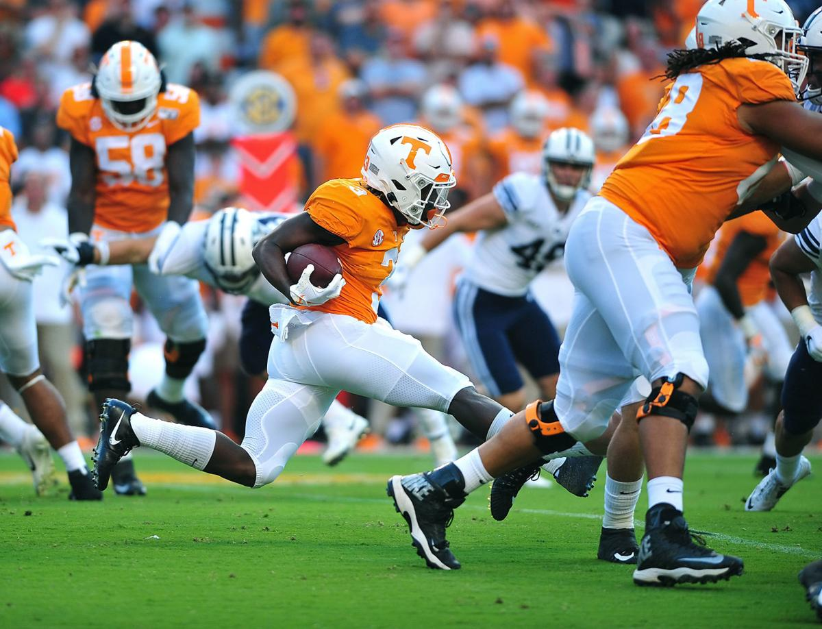 FOOTBALL: UT's Eric Gray vs BYU