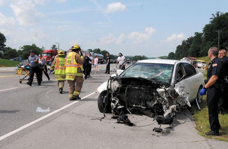 U.S. 411 South three-vehicle accident