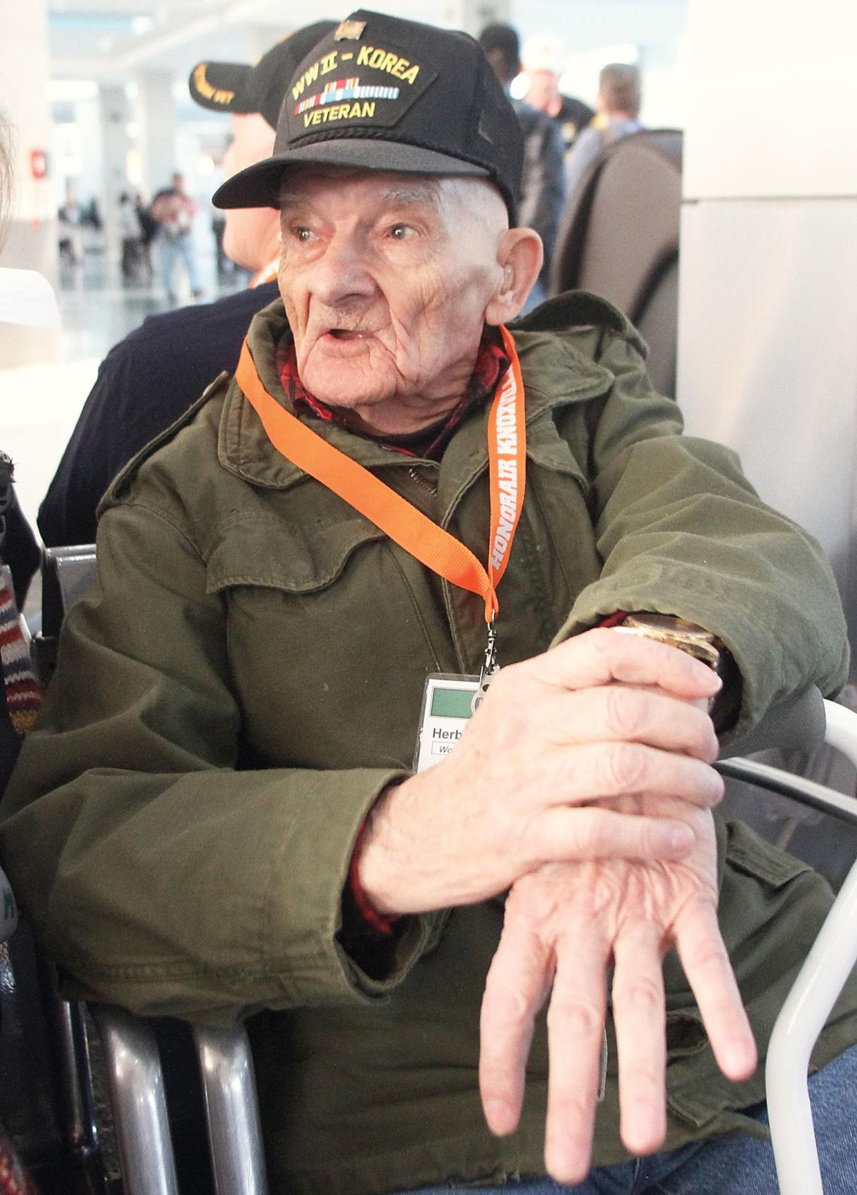 Herbert Franklin who served in the U.S. Army in World War I and Korea will fly to Washington D.C. on Honor Air to visit the war memorials