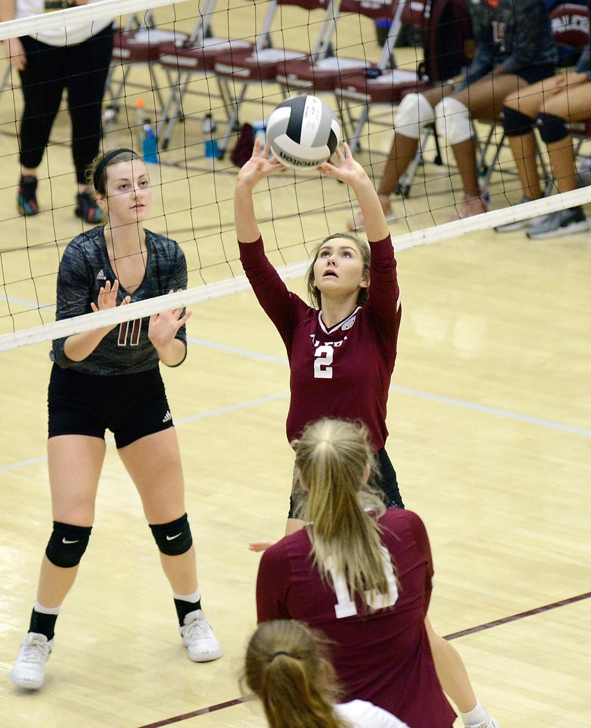 VOLLEYBALL: Alcoa's Cori Depew and Kylie Haas vs Fulton