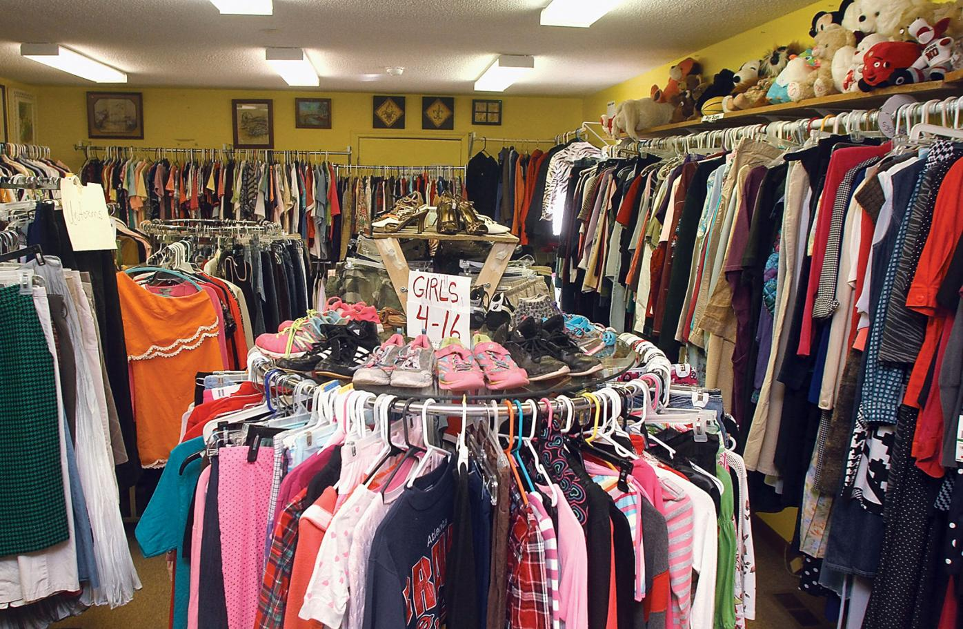 Hearts and Hands Thrift Store sells a large variety of second merchandise