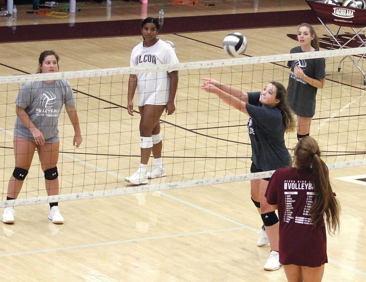 The Alcoa girls volleyball team held it's first practice Monday
